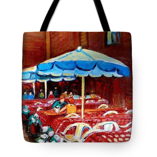 Checkered Tablecloths Tote Bag by Carole Spandau