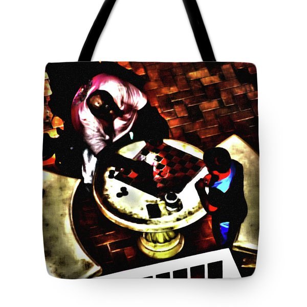 Checkers After Dark Tote Bag