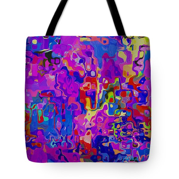 Checkers Tote Bag by Alika Kumar