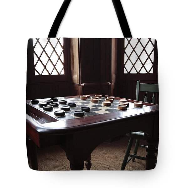 Checkers Table At The Lincoln Cottage In Washington Dc Tote Bag