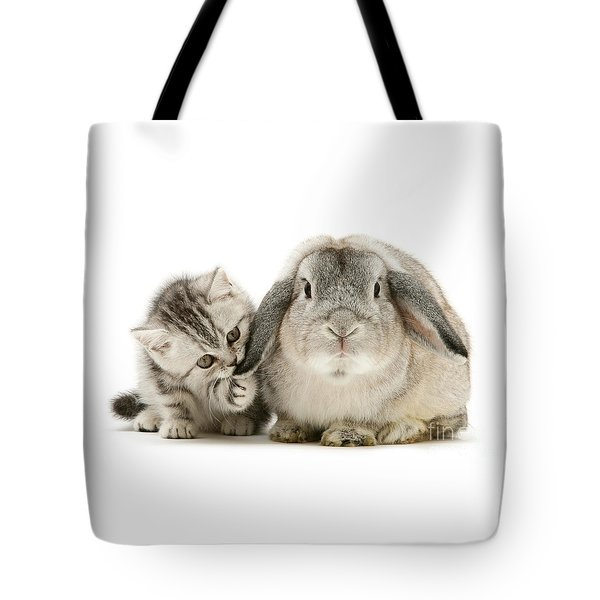 Checking For Grey Hares Tote Bag