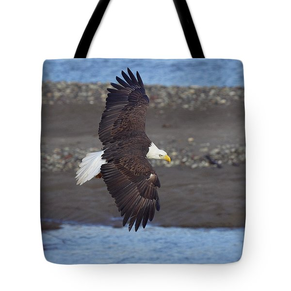 Tote Bag featuring the photograph Checking Out The River by Elvira Butler