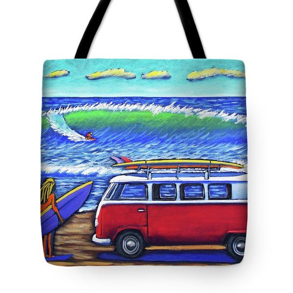 Checking Out The Waves Tote Bag