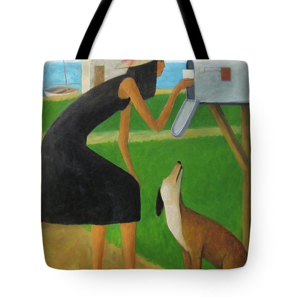 Tote Bag featuring the painting Checking The Box by Glenn Quist
