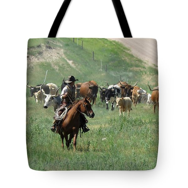 Checking The Cattle Tote Bag