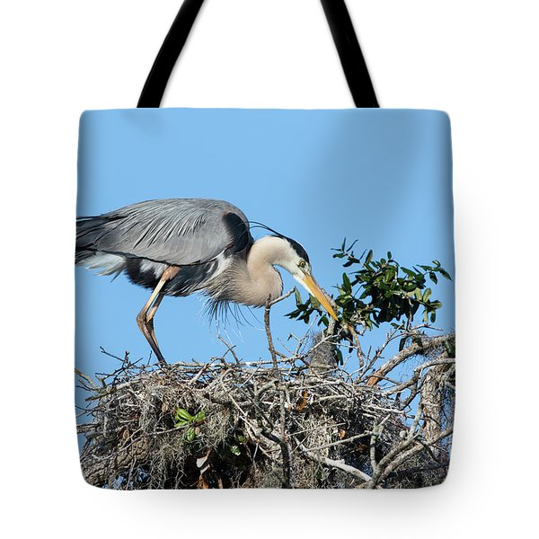 Tote Bag featuring the photograph Checking The Eggs by Deborah Benoit