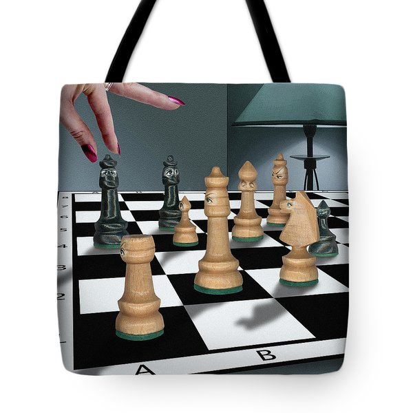 Checkmate Tote Bag by Marty Garland