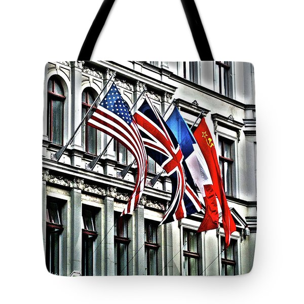 Checkpoint Charlie Tote Bag by Juergen Weiss