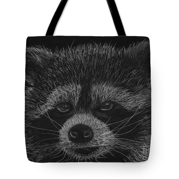 Cheeky Little Guy - Racoon Pastel Drawing Tote Bag