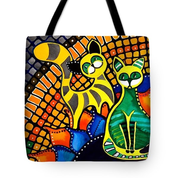 Cheer Up My Friend - Cat Art By Dora Hathazi Mendes Tote Bag