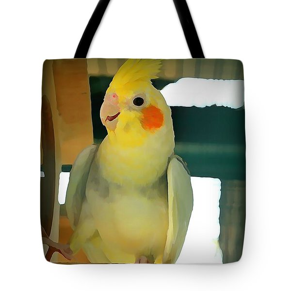 Cheerful Cockatiel Tote Bag