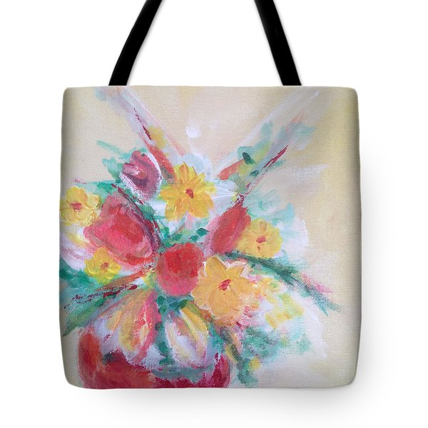 Cheerful Flower Arrangement Tote Bag