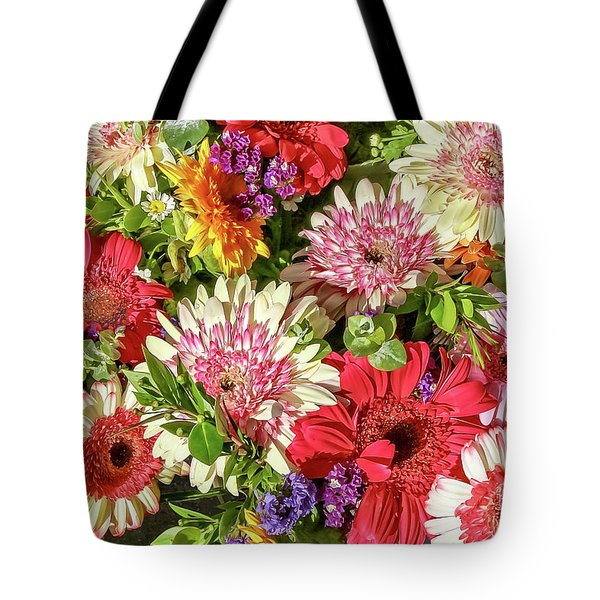 Cheerful Spring Collection - Gerbera Daisies Tote Bag