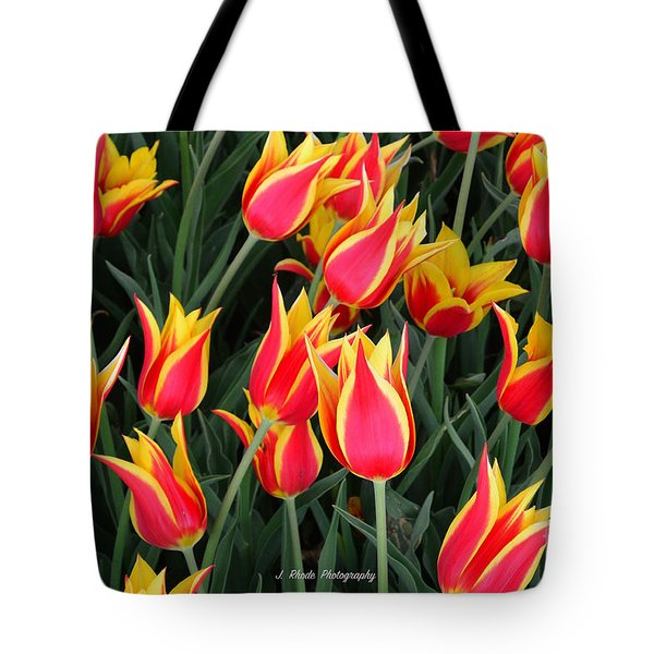 Cheerful Spring Tulips Tote Bag