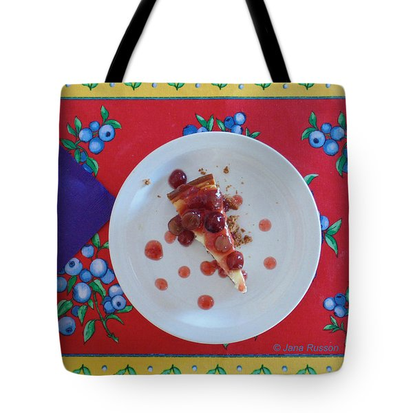 Cheese Cake With Cherries Tote Bag
