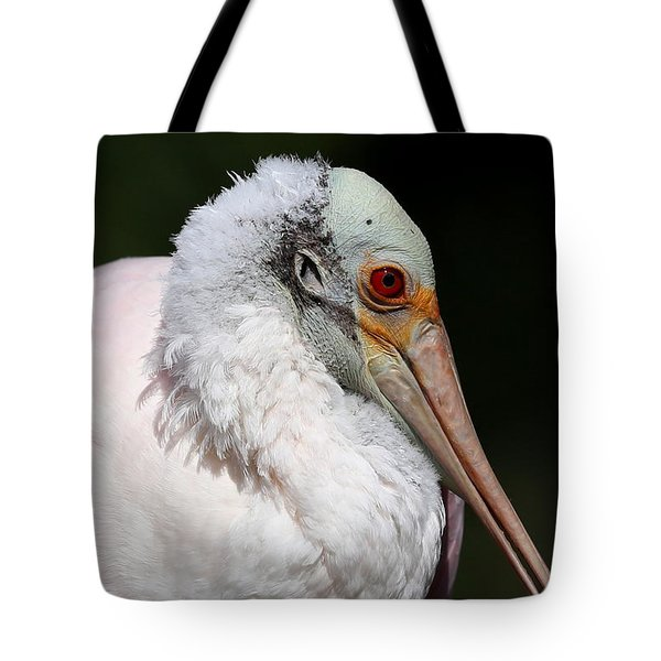 Cheese Puff Face - Roseate Spoonbill Tote Bag