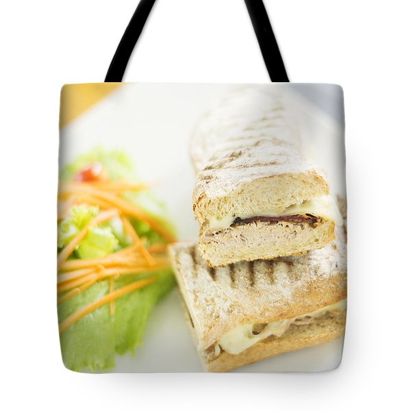 Cheese Tuna And Sundried Tomato Toasted Baguette Tote Bag