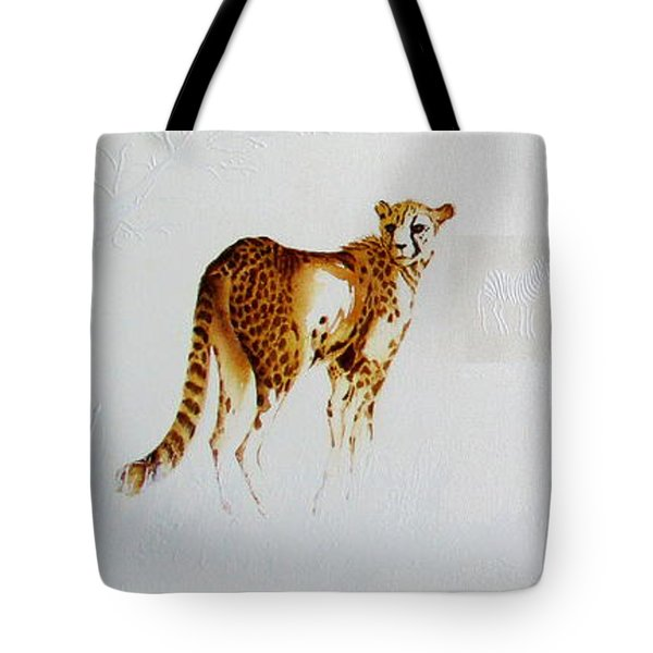 Cheetah And Zebras Tote Bag