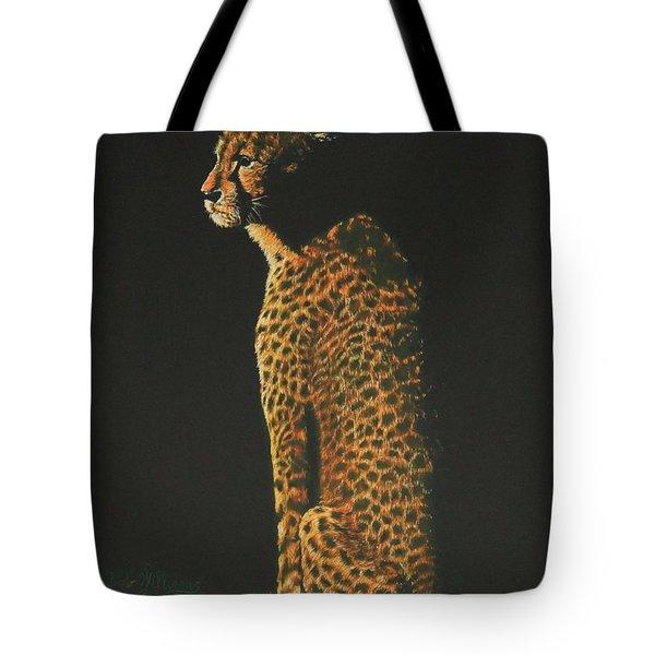 Cheetah At Sunset Tote Bag