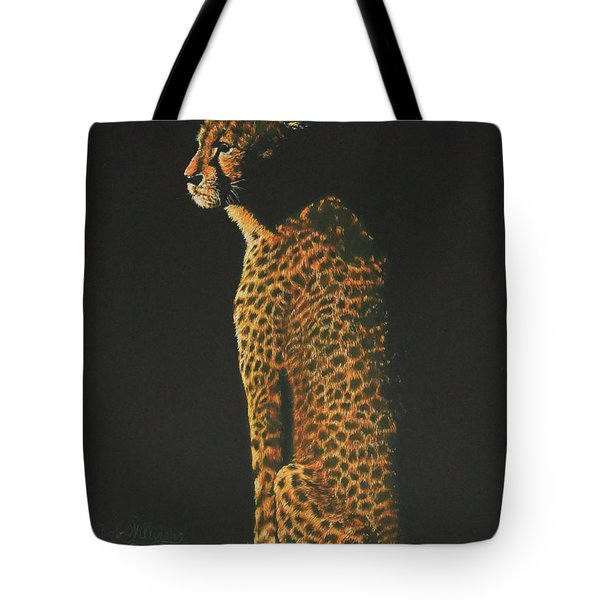 Cheetah At Sunset Tote Bag