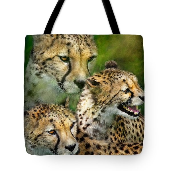 Cheetah Moods Tote Bag by Carol Cavalaris