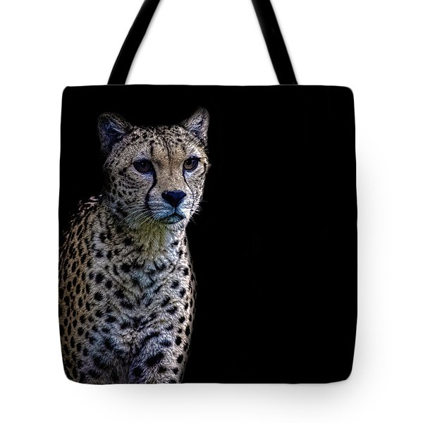 Cheetah Portrait Tote Bag