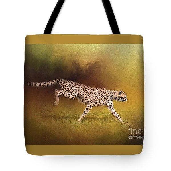 Cheetah Running Tote Bag