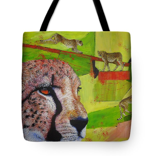 Cheetahs At Play Tote Bag