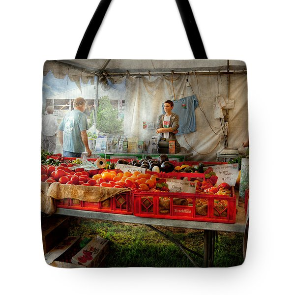 Chef - Vegetable - Jersey Fresh Farmers Market Tote Bag by Mike Savad