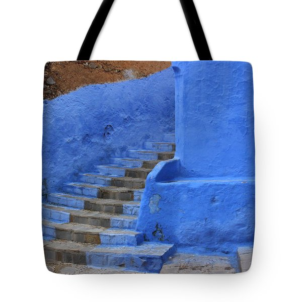 Tote Bag featuring the photograph Chefchaouen by Ramona Johnston