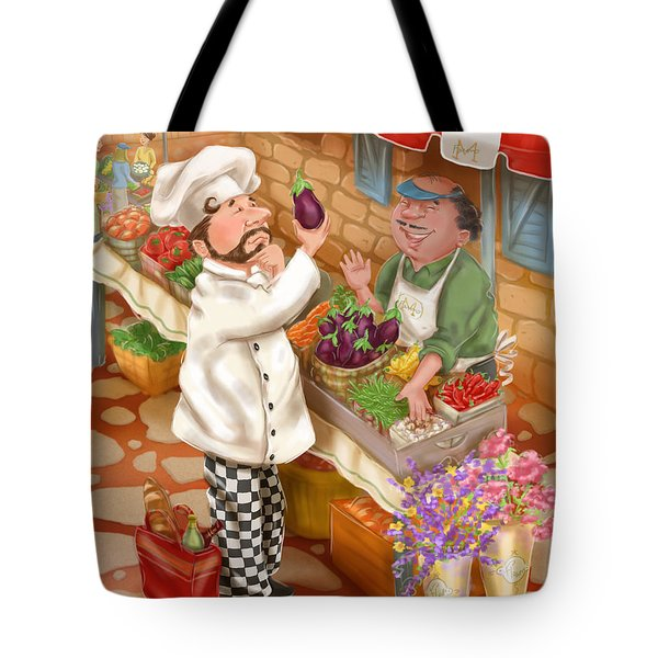 Chefs Go To Market I Tote Bag