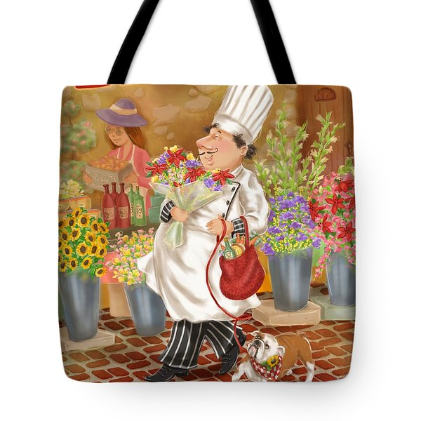 Chefs Go To Market II Tote Bag