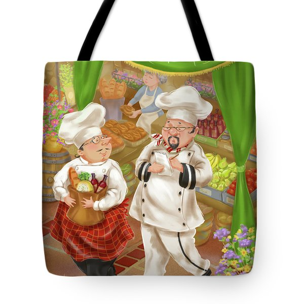 Chefs Go To Market IIi Tote Bag