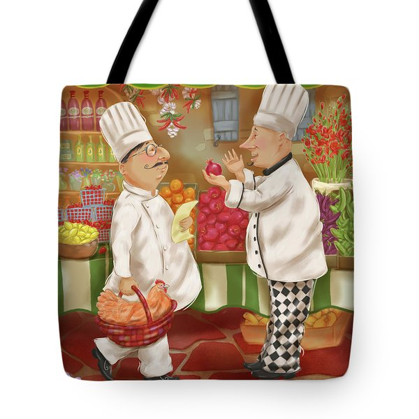 Chefs Go To Market Iv Tote Bag