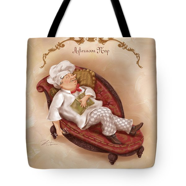 Chefs On A Break-afternoon Nap Tote Bag