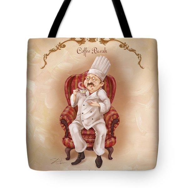 Chefs On A Break-coffee Break Tote Bag