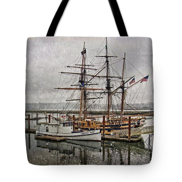 Chelsea Rose And Tall Ships Tote Bag