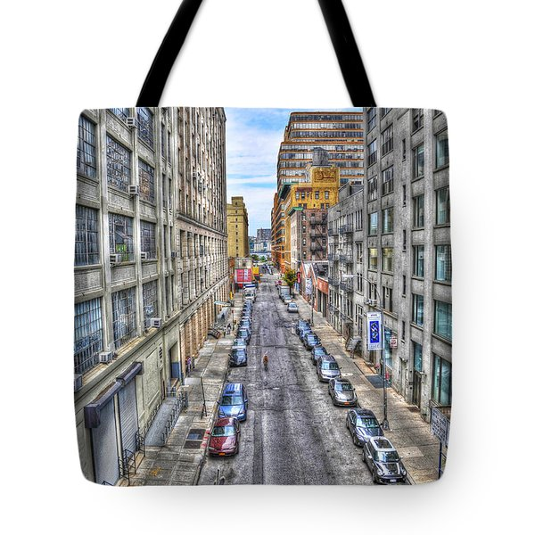 Chelsea Street From The High Line Tote Bag by Randy Aveille