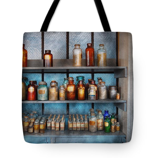 Chemist - My First Chemistry Set  Tote Bag by Mike Savad