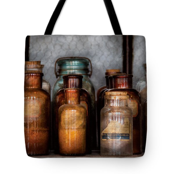 Chemist - Various Chemicals Tote Bag by Mike Savad