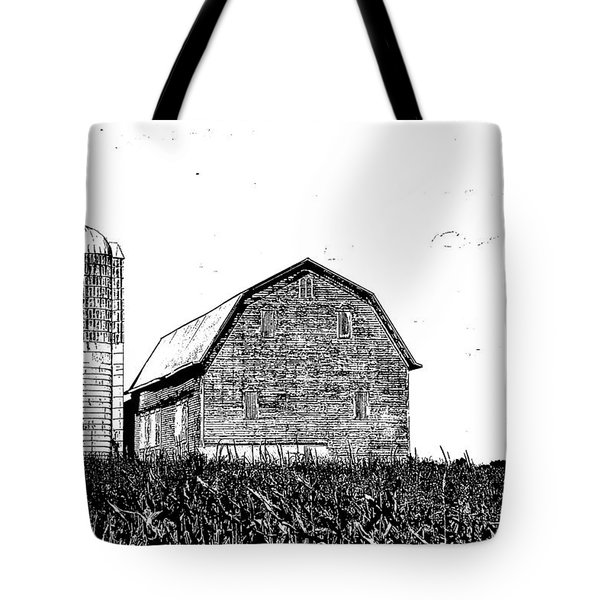 Chemung County Barn Sketch 01 Tote Bag