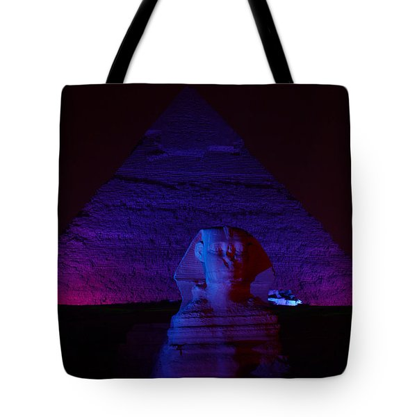 Cheops In Blue Tote Bag