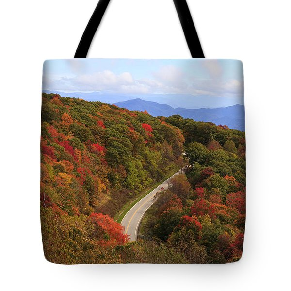 Cherohala Skyway In Nc Tote Bag