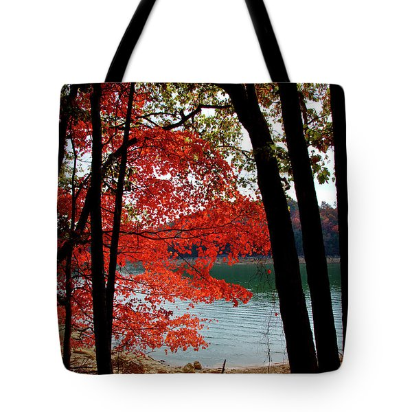 Tote Bag featuring the photograph Cherokee Lake Color by Douglas Stucky