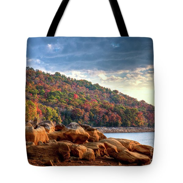 Tote Bag featuring the photograph Cherokee Lake Color II by Douglas Stucky
