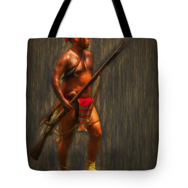 Tote Bag featuring the photograph Cherokee Warrior  ... by Chuck Caramella