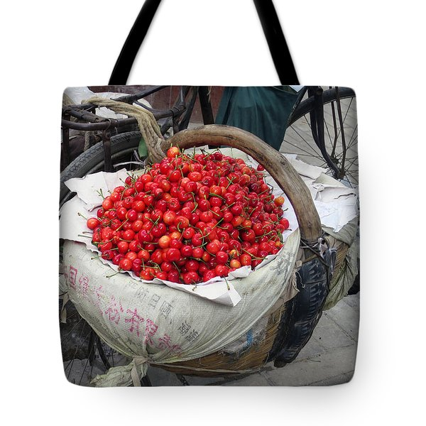 Cherries And Berries Tote Bag