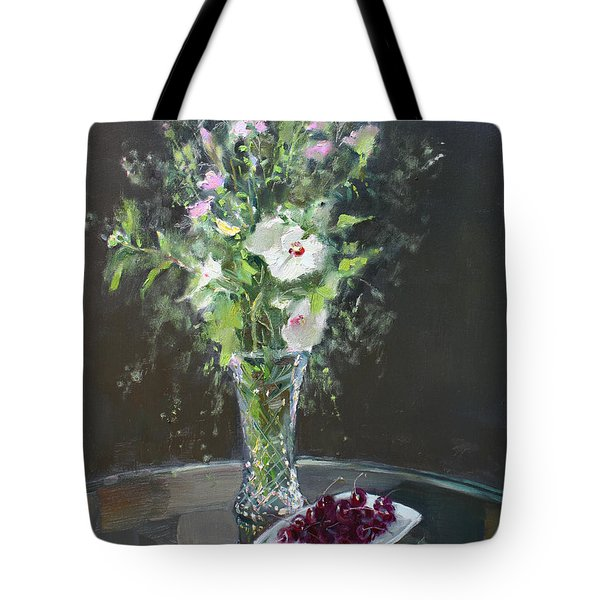 Cherries And Flowers For Her IIi Tote Bag