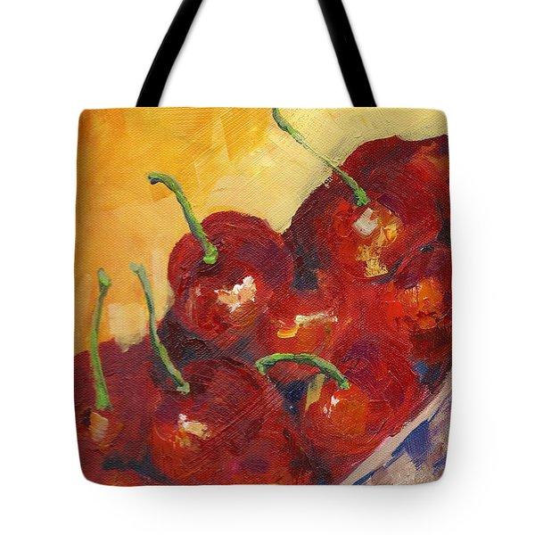 Cherries In A Basket Tote Bag