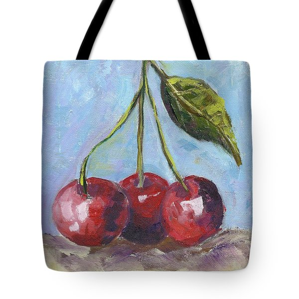 Cherries One Two Three Tote Bag